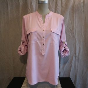 SALE! 🔥 Pastel Pink Blouse w/ Gold Buttons